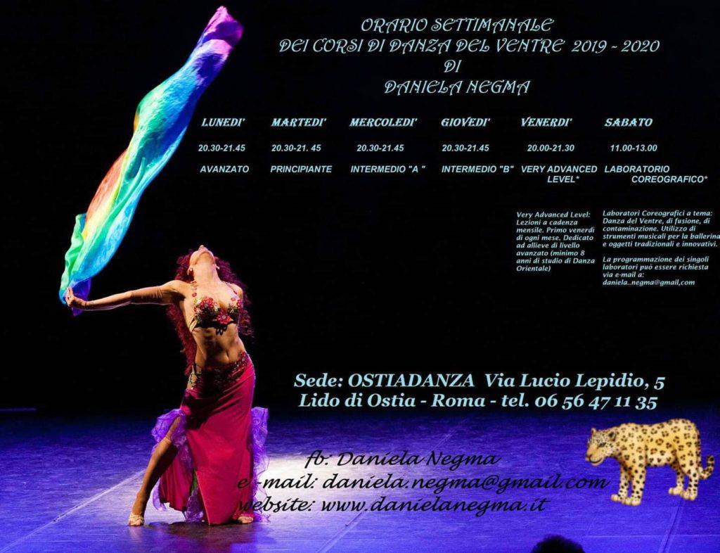 Calendario corsi danza orientale